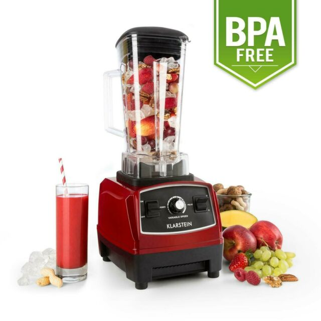 BPA-Frei Bar Cocktail Mixer 2G Ice Crusher Smoothie Maker Shaker Rot 1,6 PS