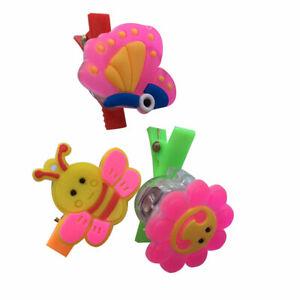 Fj-Cartone-Animato-Fiore-Coniglio-Ape-LED-Forcina-Fermaglio-per-Capelli-Brilla