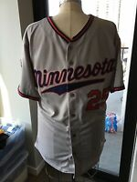 Authentic Majestic Athletic Size 52 Twins Thome Number 25 Jersey