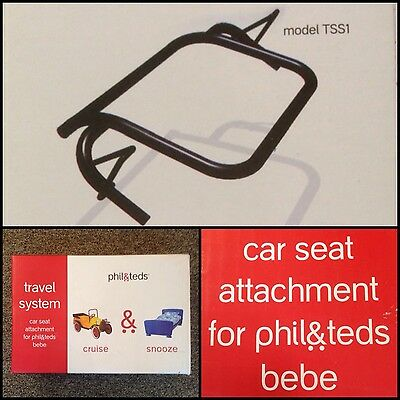 Creatief Phil & Teds Car Seat Attachment Bebe Dash Sport Classic E3 Reduced! Buy Now!