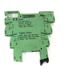 17258 Set of 5 Phoenix Contact PLC-BSC-24DC//21 Relay Modules with 2961105