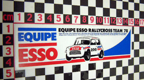 1978 Oil Petrol Rally Cross Sticker for Classic Mini