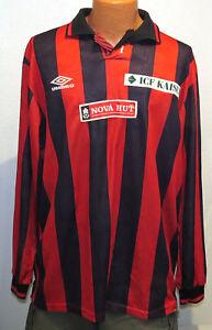 vtg-Umbro-FC-NH-OSTRAVA-Soccer-Jersey-XL-80s-Czech-Team-Club-shirt-football-JIH