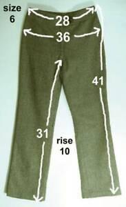 Vintage-Lined-BROWN-amp-CREAM-Herringbone-Polyester-RAMPAGE-TRILOGY-Dress-Pants-6