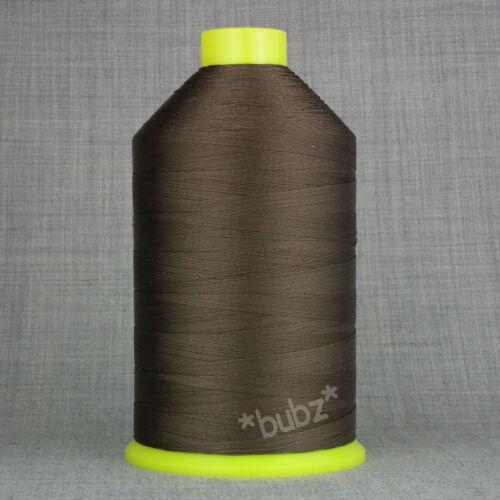 Bonded Nylon Hilo de Coser 40s Tkt Grande 3,500mtr Carrete De Cuero Marrón 40 Reparación