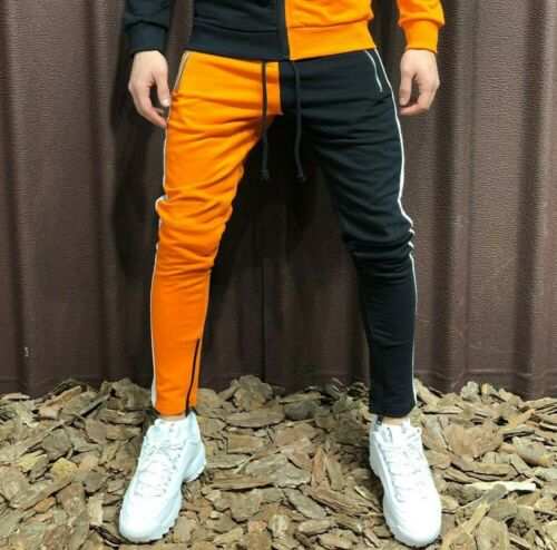 USA Men Gym Jogging Full Tracksuit Hoodies Sweatshirt Pants Fleece Joggers Suit