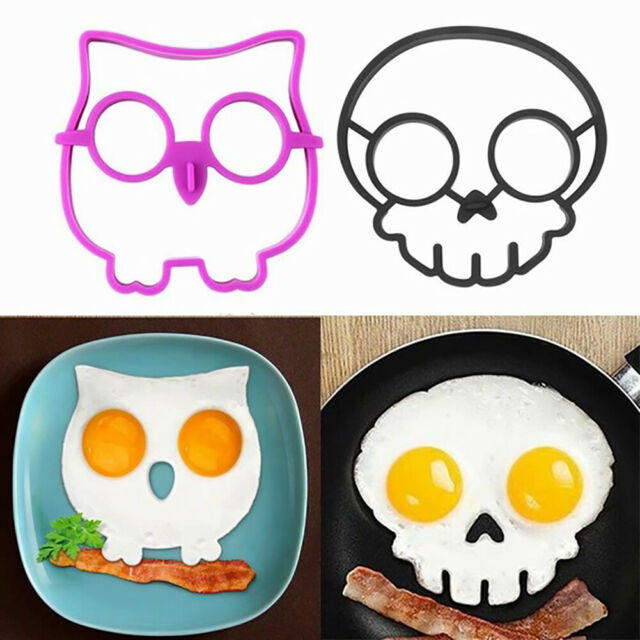 Am_ GT- Owl/Skull Shape Breakfast Silicone Fried Egg Pancake Mold Decor DIY cook