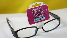 New $19.99 Foster Grant Designer Women Reading Eyeglasses-+1.50-Victoria Black