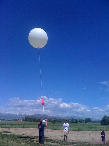 HUGE 27 foot Weather Balloon  Free Shipping