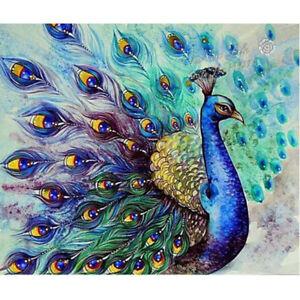 5D-DIY-Diamond-Painting-034-Peacock-034-3D-Embroidery-Set-Cross-Stitch-Mosaic-Crystal