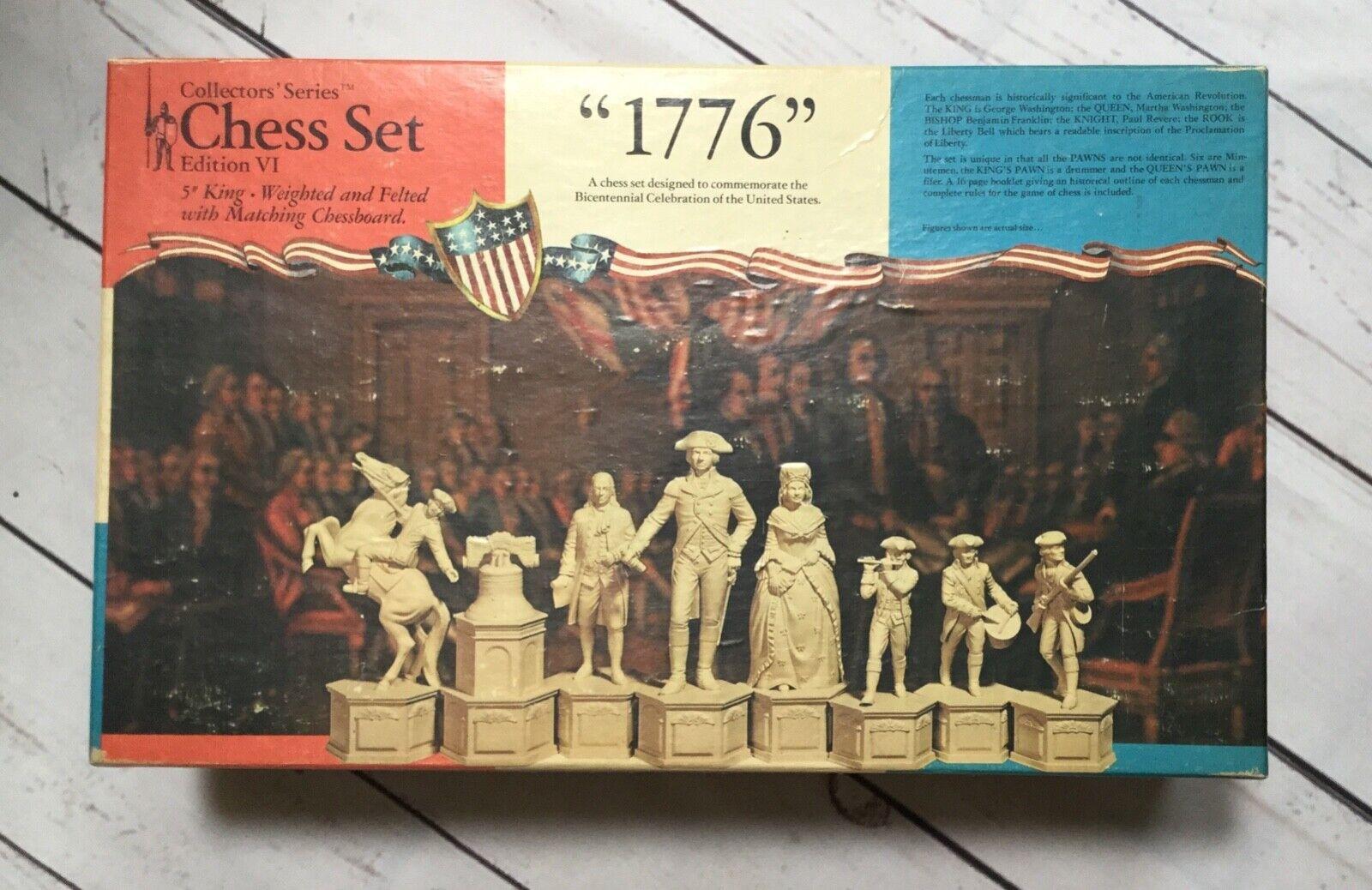 descuento de ventas Poco común 1974 1974 1974 Juegos Clásicos Coleccionistas serie juego de ajedrez edición VI 1776  distribución global