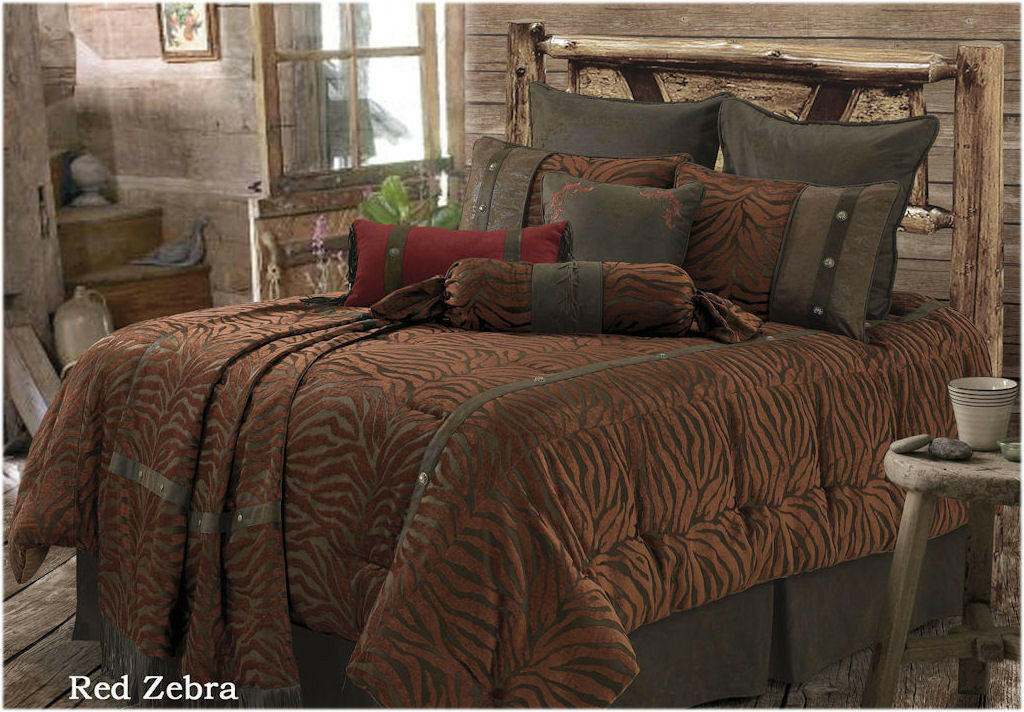 NEW Western rot Zebra Comforter Set FREE SHIPPING
