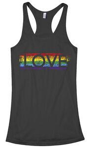 A imagem está carregando Threadrock-Feminino-Arco-iris-Orgulho-Gay-Amor- Nadador- 7fd8a24c7c5
