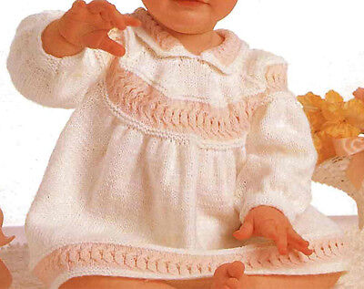 Little girls 4 ply dress- knitting pattern- fits chest 16-20 inches- cute