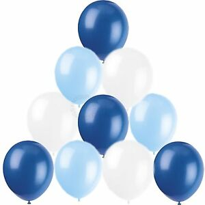 Image Is Loading Boys Christening Birthday Balloons Plain Baby Royal Blue