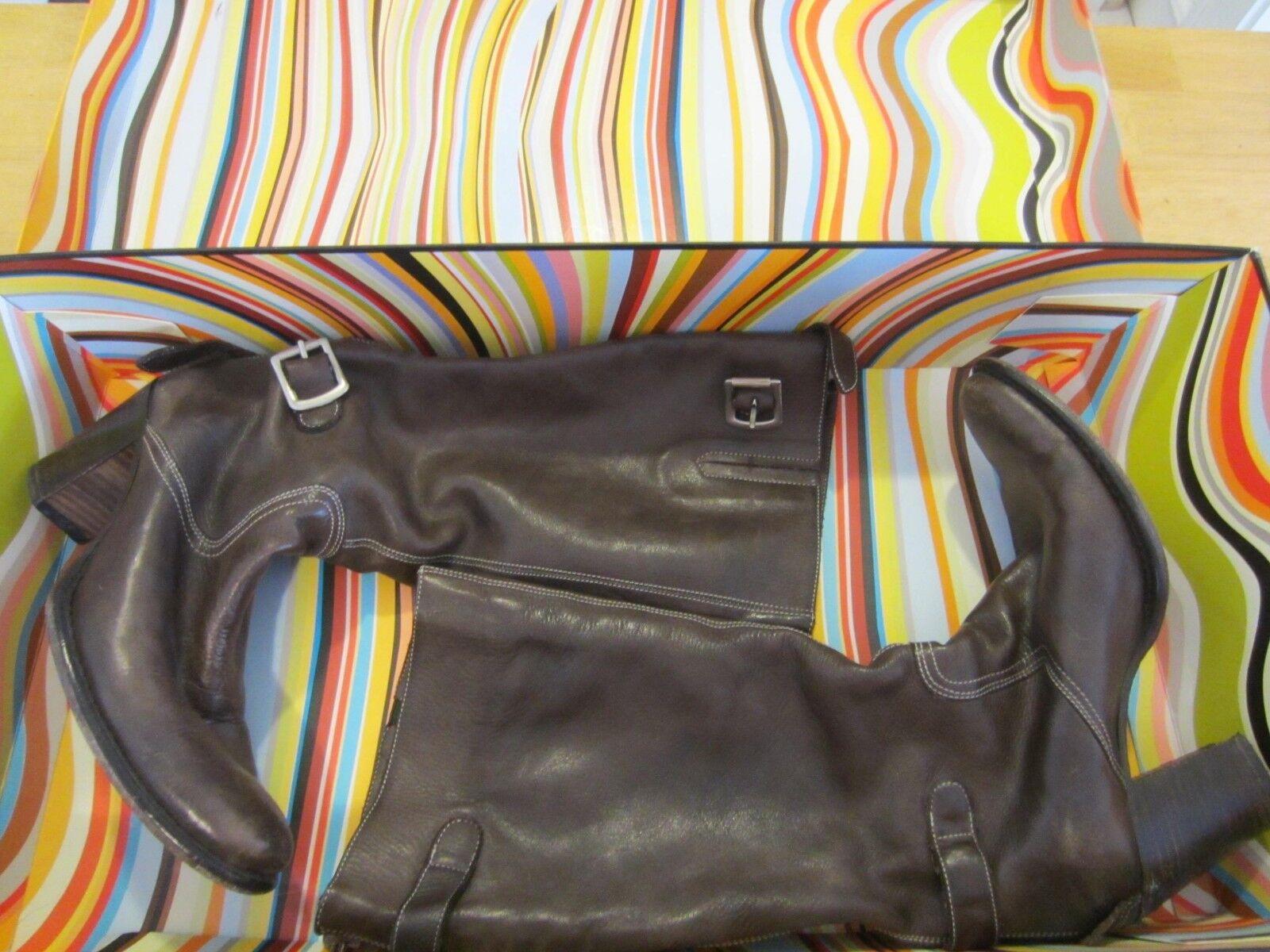 Paul Smith donna's Marronee Leather Moto stivali Ladies Sz. 7