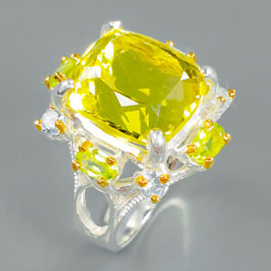 Ring-design-Natural-Lemon-Quartz-925-Sterling-Silver-Ring-Size-7-75-R93776