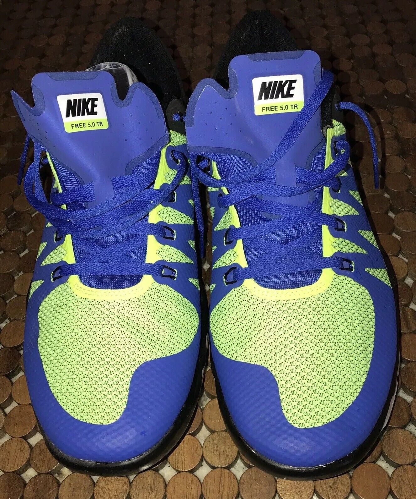 Game Royal Black Cool Grey Volt Nike Free 5.0 TR shoes. 719922-471. Sz. 11.5.