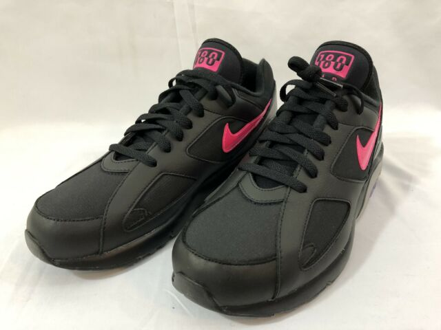 Nike Air Max 180 Men's Size 10 Running Shoes Black Pink Blast Wolf Grey NIB