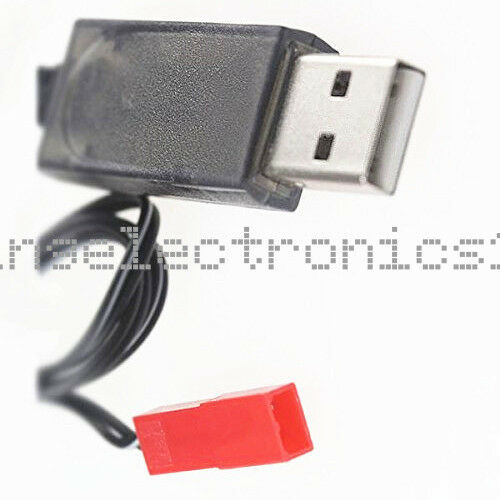 1PCS 500mA 3.7V Output 1S Lipo Lithium Battery USB Cable Charger Red JST Female