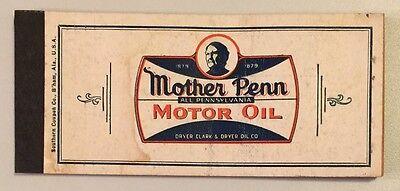 2 Vintage Original MOTHER PENN MOTOR OIL Automobile Paper Floor Mats 1950s NOS