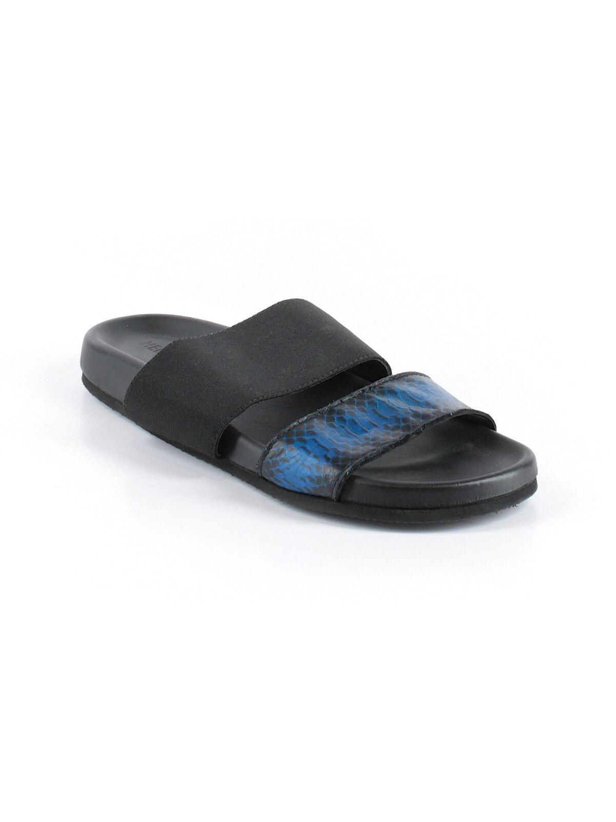 Helmut Lang Negro Azul Azul Azul Sandalias De Piel De Serpiente Talla 6.5 (US) 36.5 (EU)  muy popular