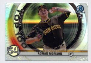 2020 Bowman Chrome #BTP-54 ADRIAN MOREJON San Diego Padres ROOKIE SCOUTS INSERT
