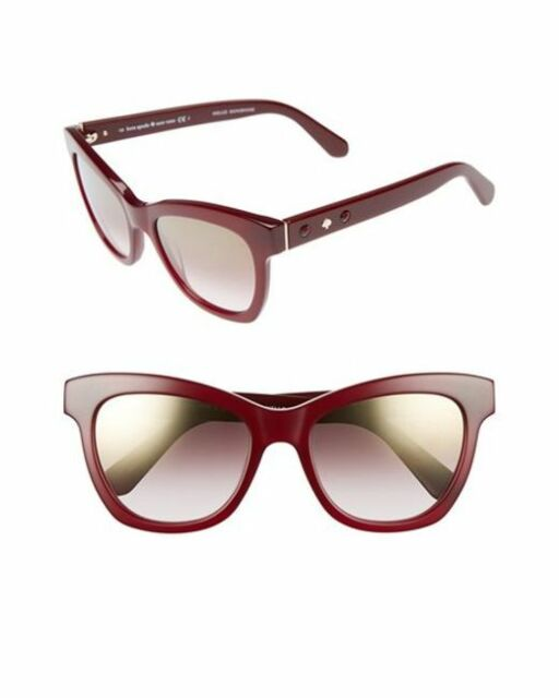 91de2f89a132 Kate Spade NY KRISSY/S 0S1K QH Red Burgundy Gredient Cat Eye Sunglasses NWT