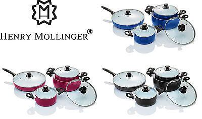 Kochpfannen Induktion geeignet s Original Henry Mollinger Keramik Topf Set 8tlg