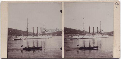 Schiff amerikanische in Rade der Villefranche Stereo Vintage Citrat 1906