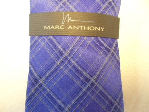 Mens Purple Marc Anthony 100/% Silk Dress Tie NEW Plaid Design