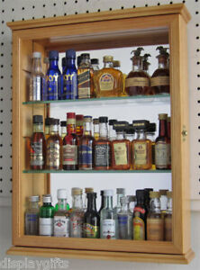Superb Image Is Loading Mini Liquor Bottles Display Case Cabinet Wall Curio