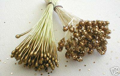 Blütenstempel Staubgefäße  2 Bund gold glamour