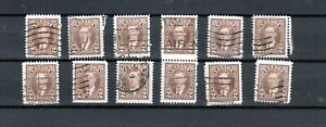 Canada-Lot-M-of-232-034-2c-King-George-VI-Mufti-Issue-034-Lot-of-12-used