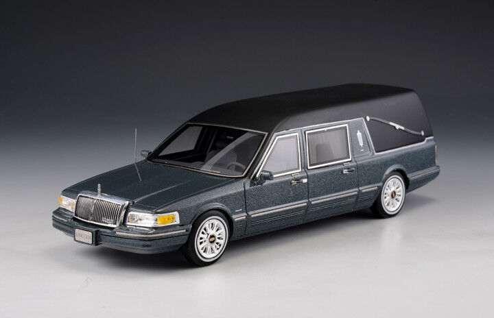 Lincoln Town car S&S Hearse  gris Metallic  (GLM Models 1 43   43102701)