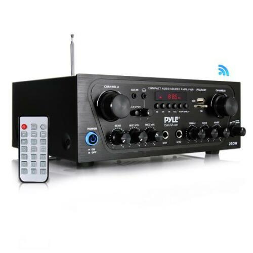 Bluetooth-Audio-Amplifier-2-Ch-Audio-Source-Stereo-Receiver-System-PTA24BT