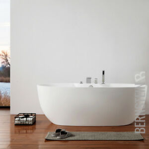 Details zu Freistehende Design Badewanne Modern Armatur Bad Wanne Nahtfrei  170 x 80cm ACRYL