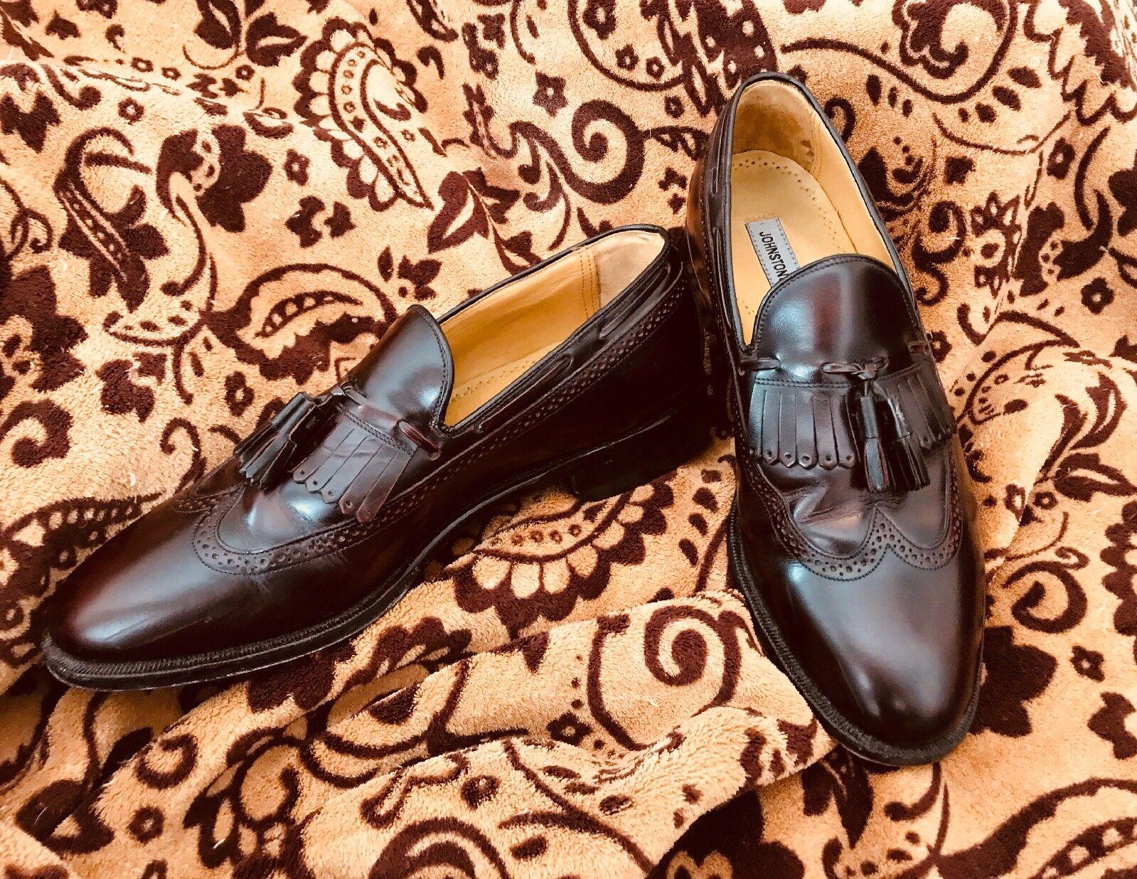Johnston Murphy Tassel Dark Brown Tassel Murphy Loafers Size 10.5 62fb36