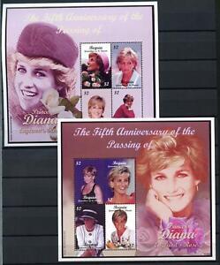 Bequia 2003 Sg#ms5248-9 Diana, Princess Of Wales Neuf Sans Charnière M/s Set #d84708-afficher Le Titre D'origine