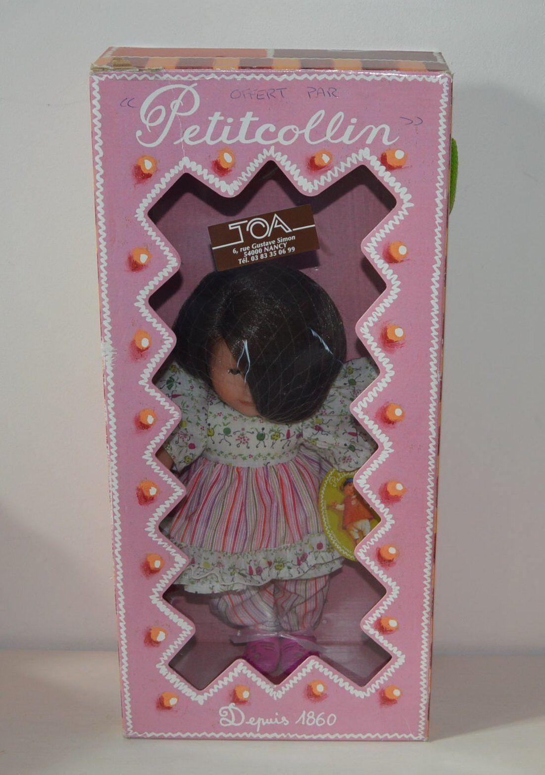 Adorable poupée PETITCOLLIN brune Coline 35 cm Jardin potager Neuve 2001 623515