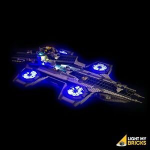 LIGHT-MY-BRICKS-LED-Light-kit-for-LEGO-The-SHIELD-Helicarrier-76042-Lego