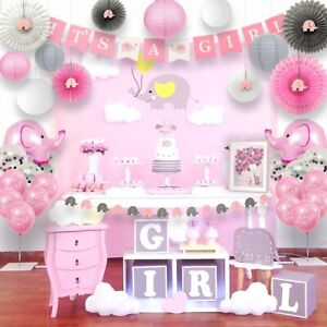 Elephant Baby Shower Décorations Girl