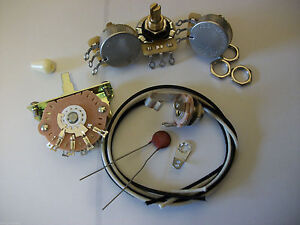 Wiring-Harness-Kit-For-Strat-CTS-Oak-Switchcraft-05uf-Erie-Ceramic-Cap-1960-039-s