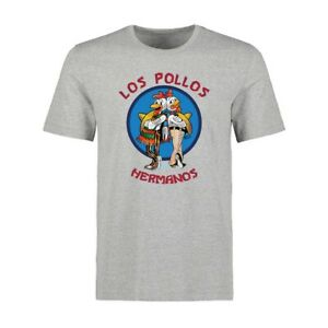 Funny-Los-Pollos-Hermanos-Print-Men-039-s-T-shirts-Cotton-Short-Sleeve-Cool-Tops-Tee