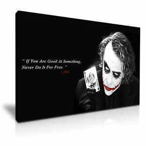 Joker quotes batman movie icon framed canvas print more size ebay image is loading joker quotes batman movie icon framed canvas print reheart Gallery