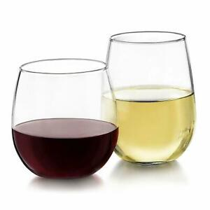 Libbey-Stemless-24-Piece-Wine-Glass-Party-Set-for-Red-and-White-Wines