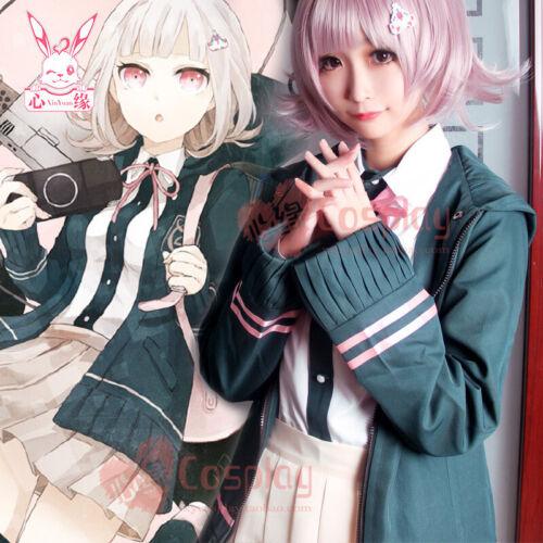 Super Danganronpa 2 Cosplay Costume Chiaki Nanami Coat Skirt Shirt Full Set