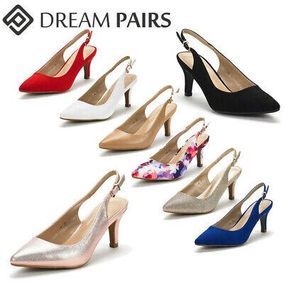 DREAM PAIRS Women's Low Heel Slingback