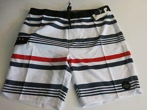 100% De Qualité Homme Rip Curl 38 Covine Rouge Blanc Noir Extensible Rayure Shorts De Surf RafraîChissant Et BéNéFique Pour Les Yeux