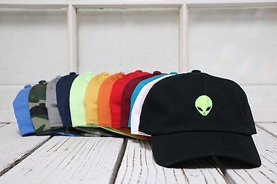New Alien Head Baseball Cap Hat Many Colors Available